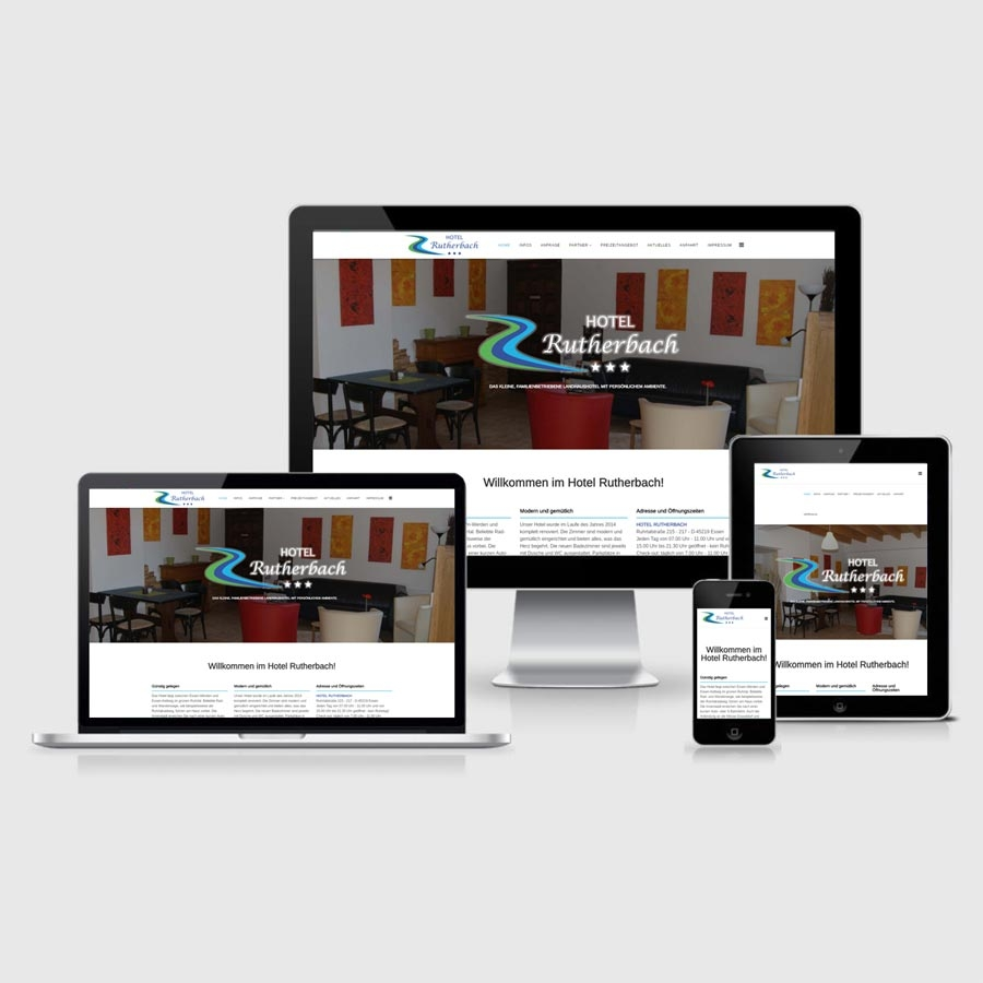 Hotel Rutherbach since April 25, 2016 with a new website